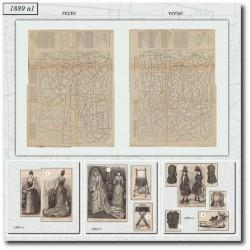 Patrons de La Mode Illustrée 1889 N°01