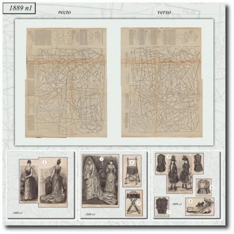 Sewing patterns La Mode Illustrée 1889 N°01
