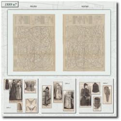 Patrons de La Mode Illustrée 1889 N°07