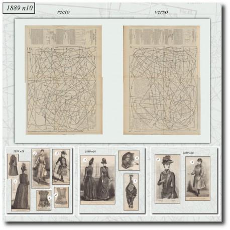 Sewing patterns La Mode Illustrée 1889 N°10