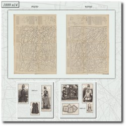 Patrons de La Mode Illustrée 1889 N°14