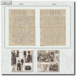 Sewing patterns La Mode Illustrée 1889 N°18