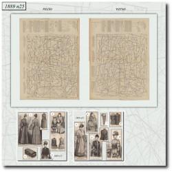 Patrons de La Mode Illustrée 1889 N°25