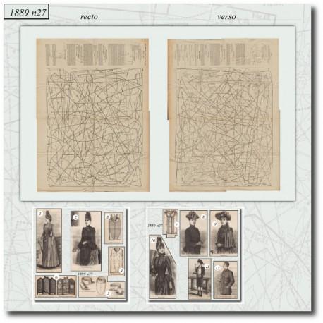 Patrons de La Mode Illustrée 1889 N°27
