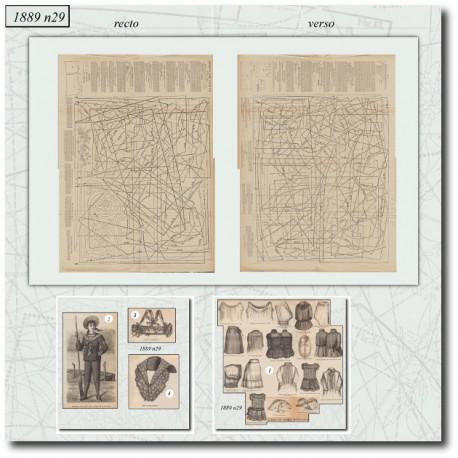 Sewing patterns La Mode Illustrée 1889 N°29