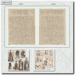 Patrons de La Mode Illustrée 1889 N°33
