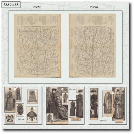 Patrons de La Mode Illustrée 1889 N°38