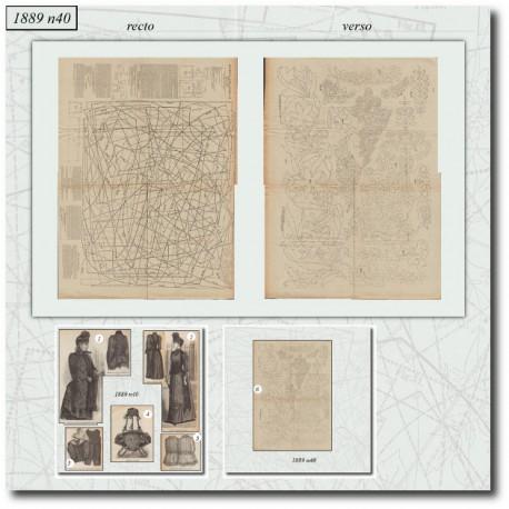Sewing patterns La Mode Illustrée 1889 N°40
