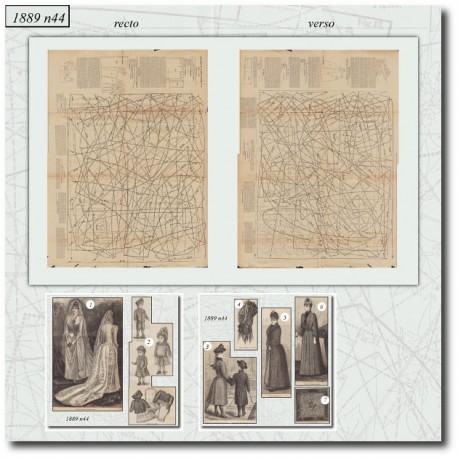 Sewing patterns La Mode Illustrée 1889 N°44