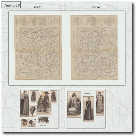 Patrons de La Mode Illustrée 1889 N°49