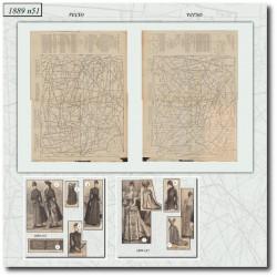 Patrons de La Mode Illustrée 1889 N°51
