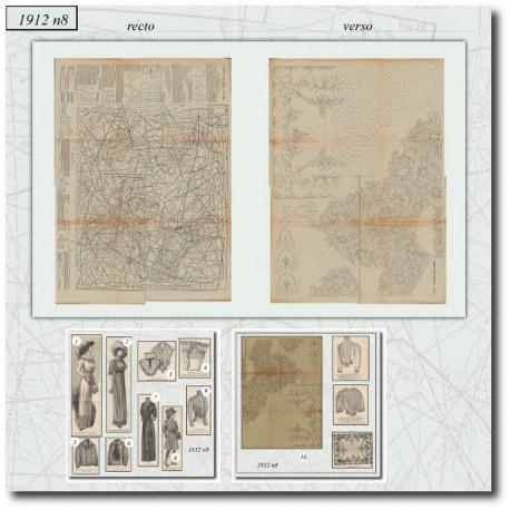 Sewing patterns La Mode Illustrée 1912 N°08