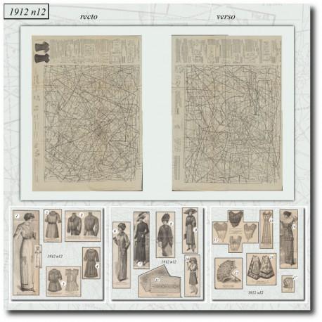 Patrons de La Mode Illustrée 1912 N°12