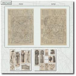 Sewing patterns La Mode Illustrée 1912 N°14