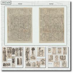 Sewing patterns La Mode Illustrée 1912 N°16