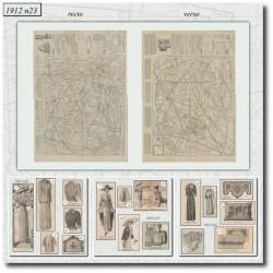 Sewing patterns La Mode Illustrée 1912 N°23
