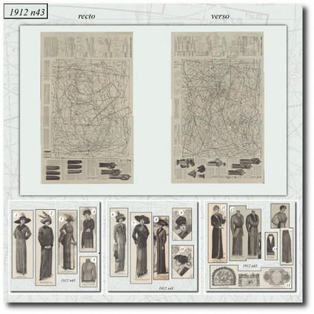 Sewing patterns La Mode Illustrée 1912 N°43
