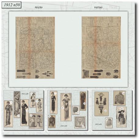 Sewing patterns La Mode Illustrée 1912 N°50