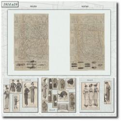 Sewing patterns La Mode Illustrée 1914 N°19