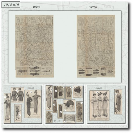 Patrons de La Mode Illustrée 1914 N°19