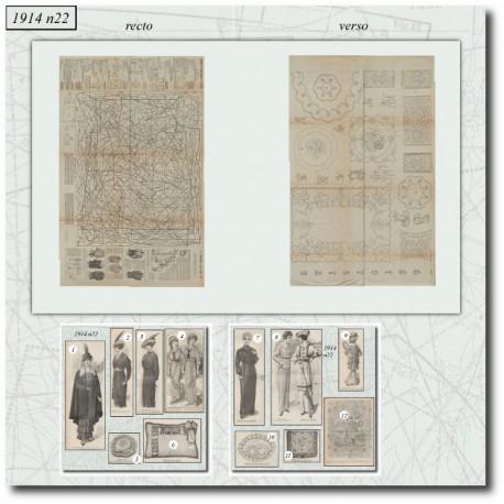 Sewing patterns-fashion-war-1914-22