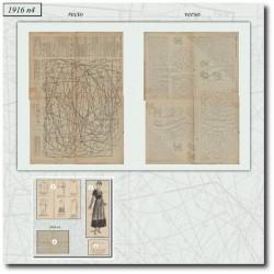 Sewing patterns La Mode Illustrée 1916 N°04