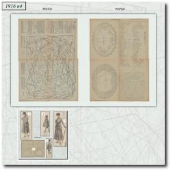 Sewing patterns La Mode Illustrée 1916 N°06