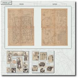 Sewing patterns La Mode Illustrée 1916 N°17