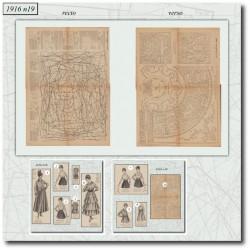 Sewing patterns La Mode Illustrée 1916 N°19