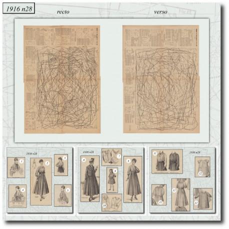 Patrons de La Mode Illustrée 1916 N°28