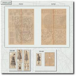 Patrons de La Mode Illustrée 1916 N°33