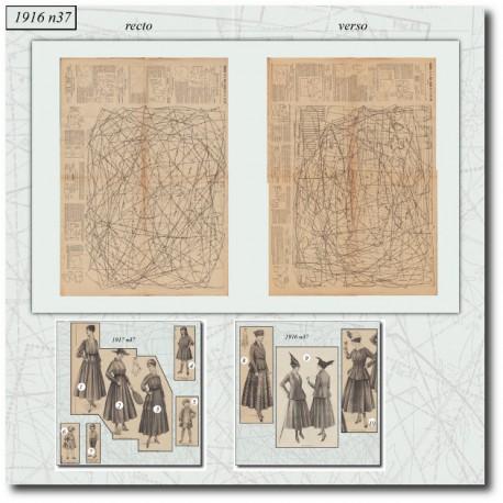 Sewing patterns La Mode Illustrée 1916 N°37