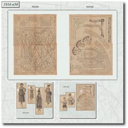 Sewing patterns La Mode Illustrée 1916 N°50