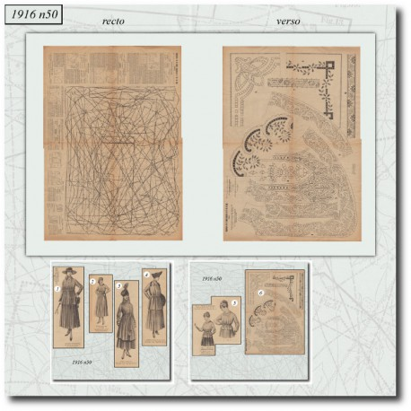 Sewing patterns-war-1916-50