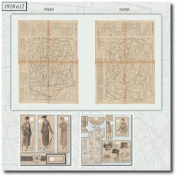 Patrons de La Mode Illustrée 1918 N°12
