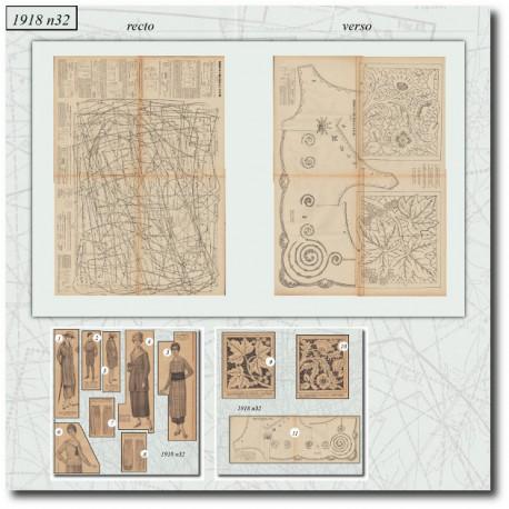 Sewing patterns La Mode Illustrée 1918 N°32