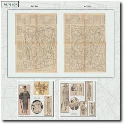 Sewing patterns La Mode Illustrée 1918 N°26