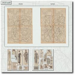 Digital sewing patterns La Mode Illustrée 1918 N°48