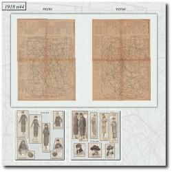 Patrons de La Mode Illustrée 1918 N°44