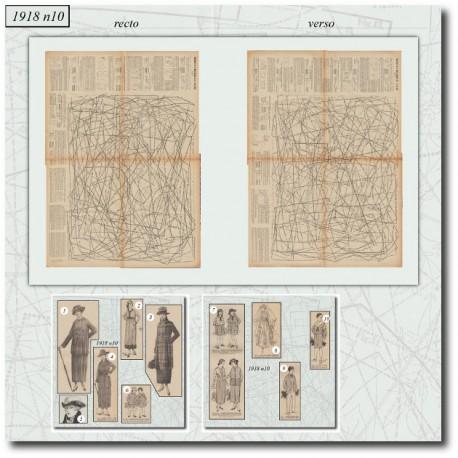 Sewing patterns La Mode Illustrée 1918 N°10