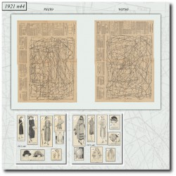 Sewing patterns Mode Illustrée 1921 44