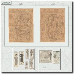 Patrons de La Mode Illustrée 1923 02