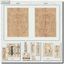 Patrons de La Mode Illustrée 1924 10