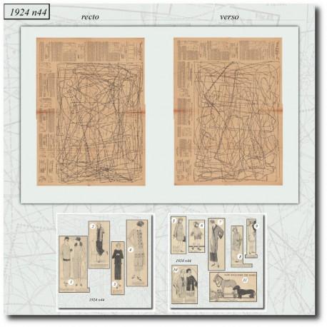 Patrons de La Mode Illustrée 1924 44
