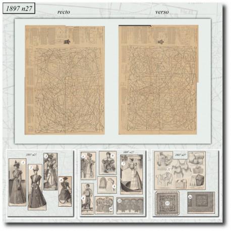 Sewing patterns La Mode Illustrée 1897 N°27