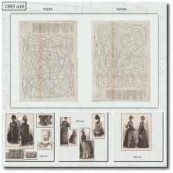 Patrons de La Mode Illustrée 1885 N°16