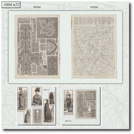 Historical sewing patterns crossstitch