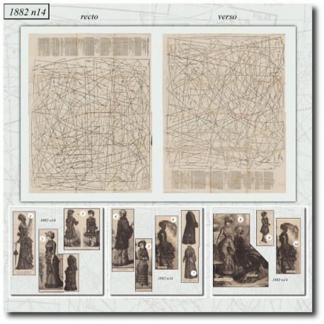 Sewing patterns La Mode Illustrée 1882 N°14