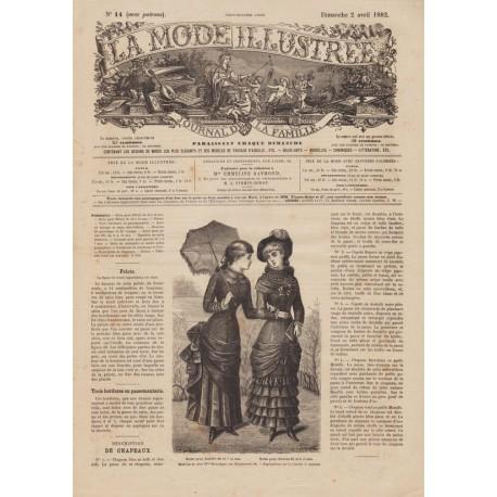 Complete magazine La Mode Illustrée 1882 N°14