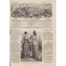 Complete magazine La Mode Illustrée 1877 N°29